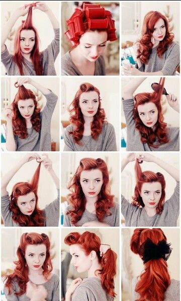 Pin up hair- if I ever get married, i want to have my hair styled like a Pin Up girl