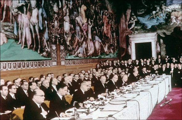 EU - The signing of the Treaty of Rome 1957