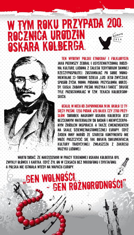 Oskar Kolberg. Kampania Mam Gen Wolności. Projekt: Studio Zakład, www.zaklad.pl