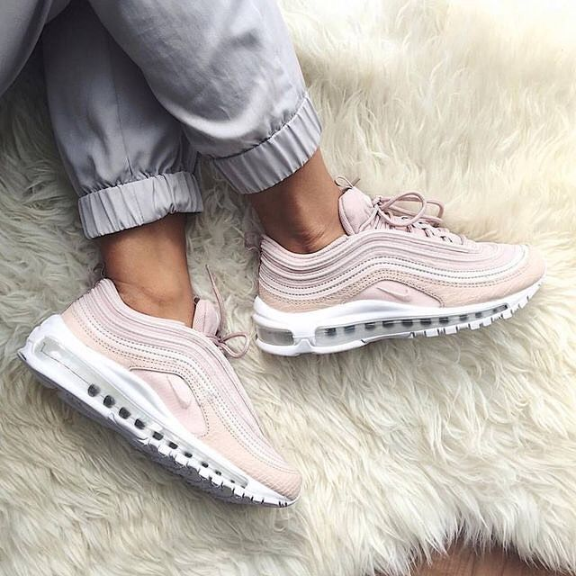 d628868be96b3 The super stylish Nike Air Max 97 sneaker in barely rose (pink). Luxury  shoe and super comfortable.