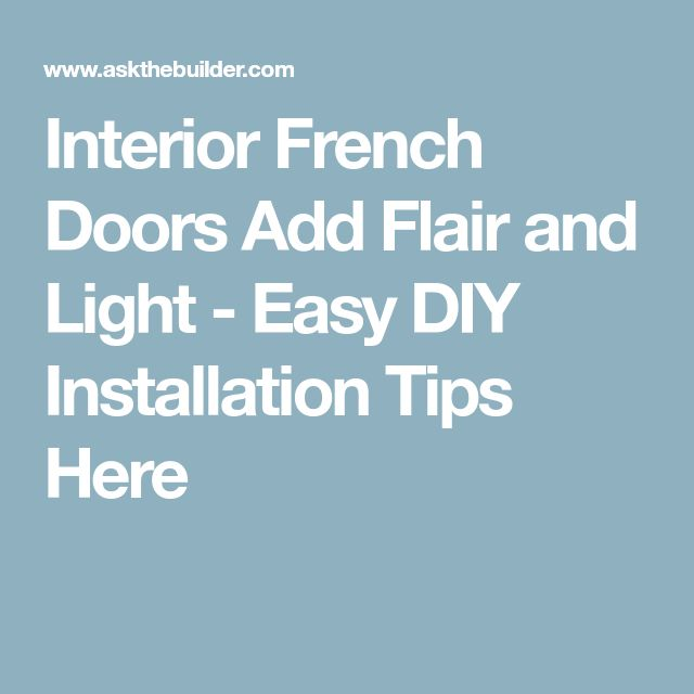 Best 25+ Prehung interior french doors ideas on Pinterest