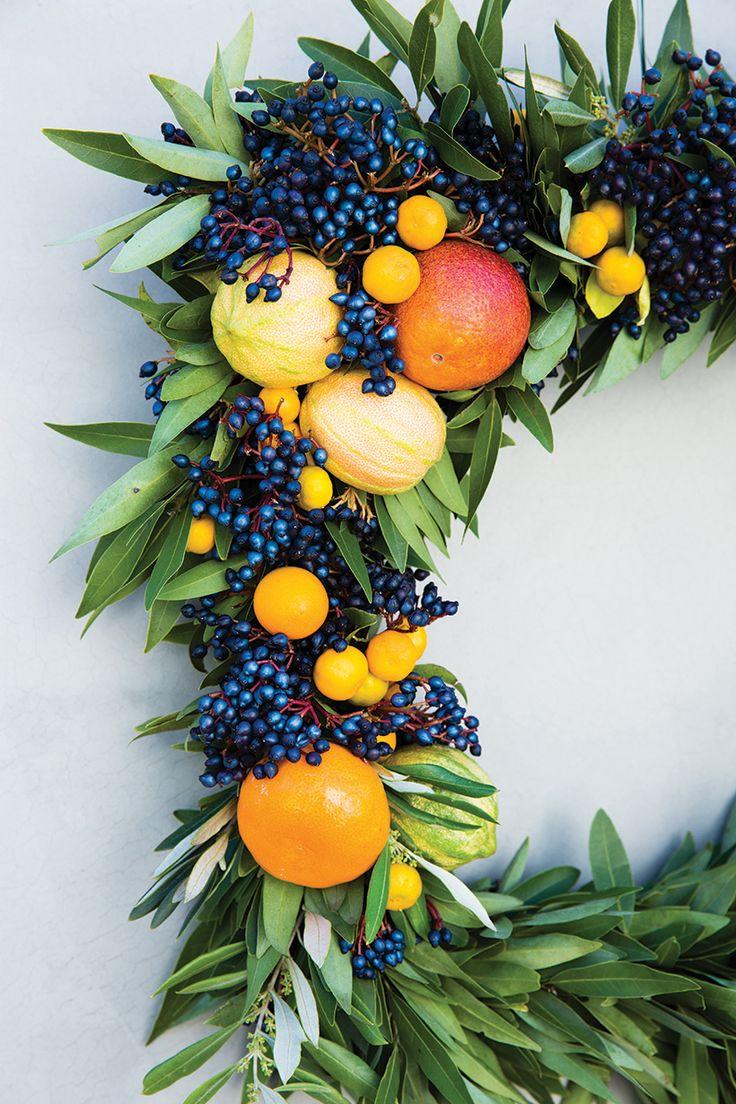 DIY Your Own Citrus Wreath