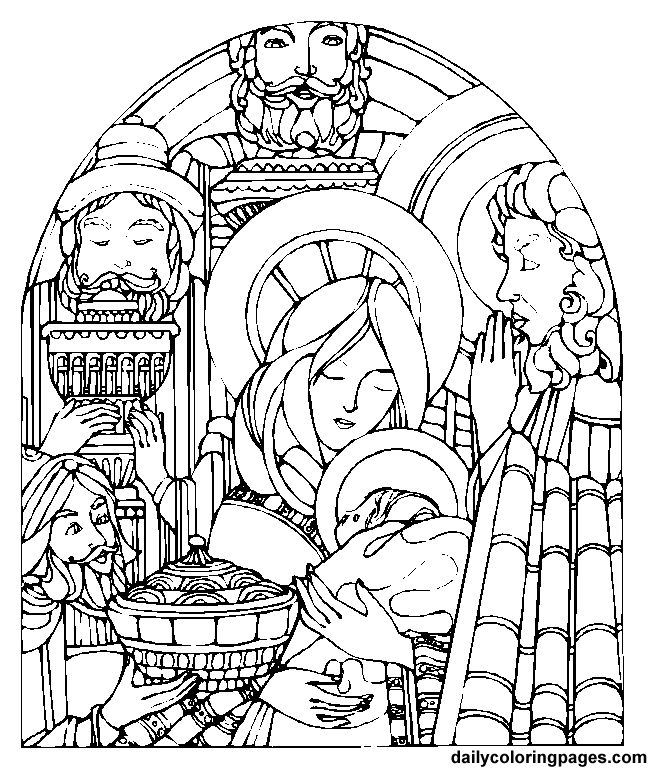 Feast Of The Epiphany Coloring Page
