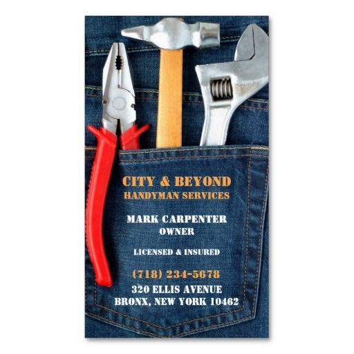 258 best plumbing business cards images on pinterest card handyman tools business card reheart Image collections