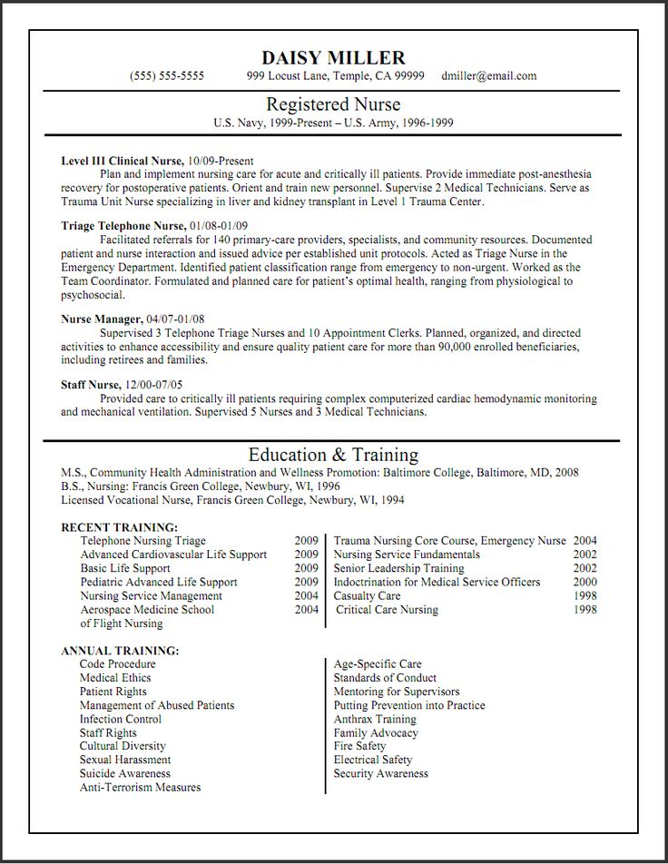 Sample Icu Nurse Resume  Sample Resume And Free Resume Templates