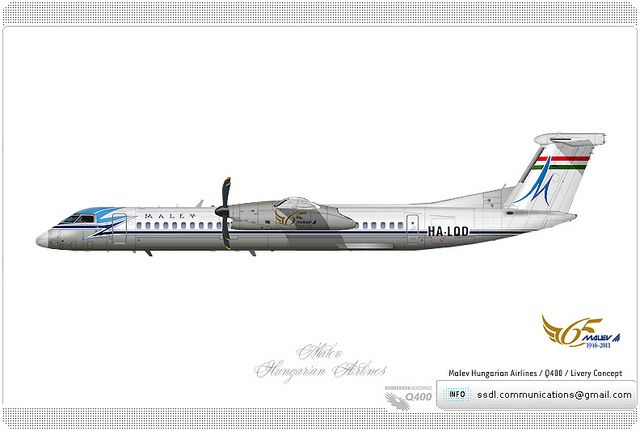 MALEV Hungarian Airlines / Q400 / Livery concept