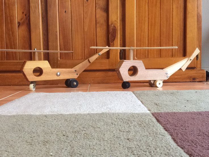 Wooden helicopter - Poppy's ... and Mine
