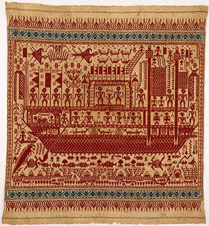 Ceremonial Textile (Tampan) [Piya, Wai Ratai, Lampung Bay, Lampung region, Sumatra, Indonesia] (1990.335.22) | Heilbrunn Timeline of Art History | The Metropolitan Museum of Art