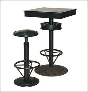 1000 id es propos de table haute industrielle sur pinterest table table d architecte et. Black Bedroom Furniture Sets. Home Design Ideas