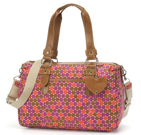 Babymel Ella in Dot Multi. Featuring insulated bottle holder, changing mat, top zipped closure and inner zip pocket. $149 and available at www.dollface.com.au