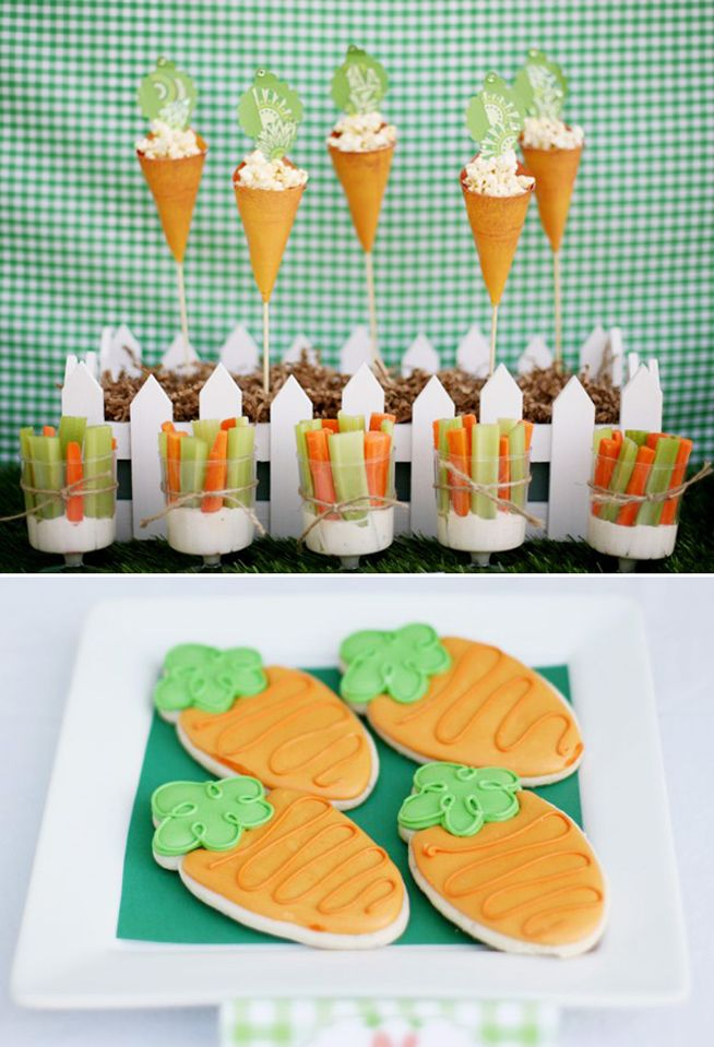 Awesome idea with the celery/carrot cups with dip in the bottom!! The simple twine tie around it makes it that much better!
