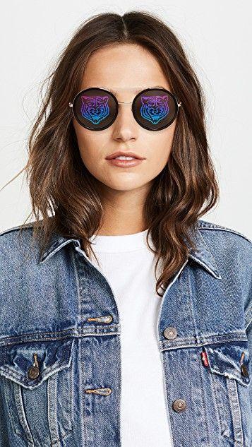 7a9b5beebf29 Gucci Urban Web Block Round Sunglasses Round Sunglasses