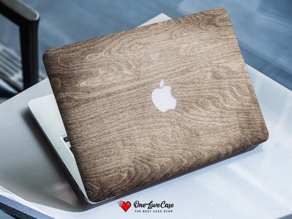 Brown wood texture print macbook hard plastic protective laptop case available for all macbook model