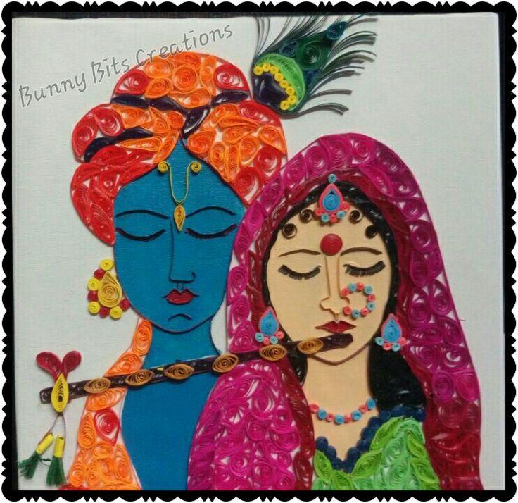 Quilled Radhe Krishna Painting