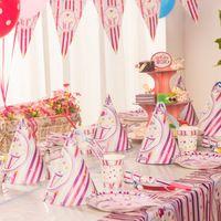 Бесплатная доставка принцесса мороженое тема на день рождения ну вечеринку украшения, День рождения ну вечеринку поставки праздничный собрания для 6 человек