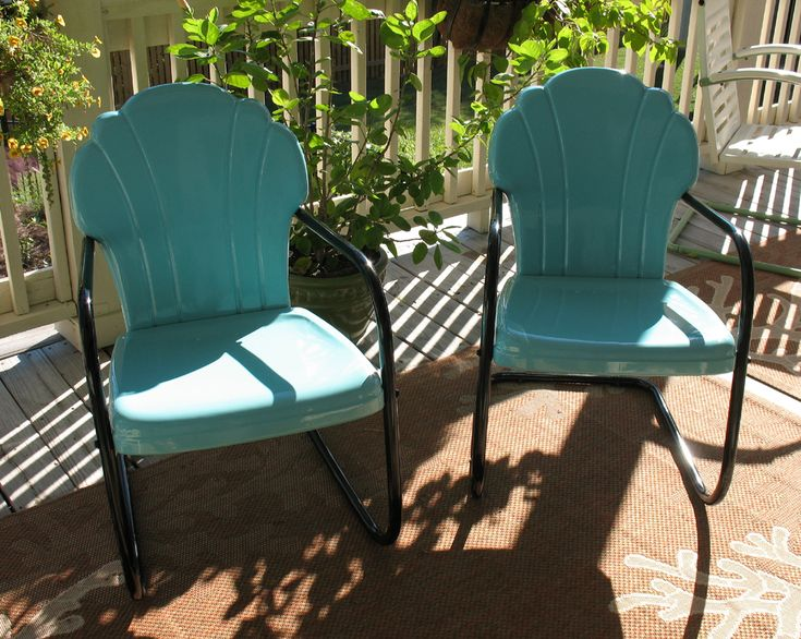 Garden Furniture Vintage 1911 best motel chairs some are mine and some are not (yet
