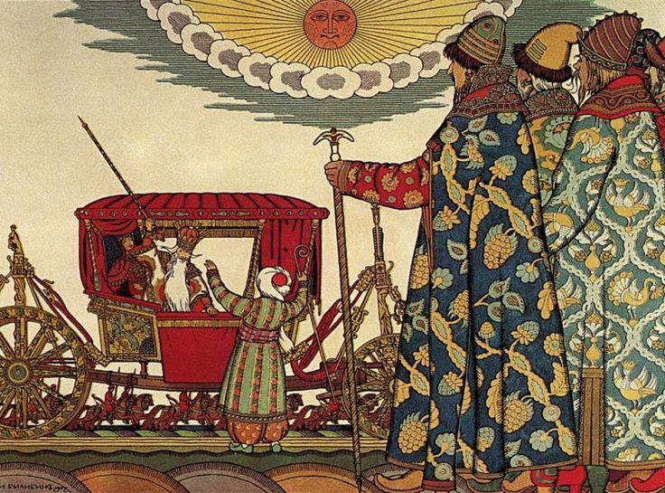 Illustration to fairy-tale of A.Pushkin