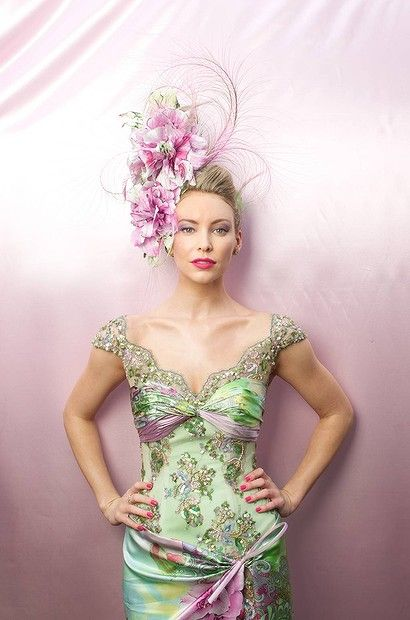 Melbourne Cup 2012 Fashions on the Field ... Anna Doody in a Jason Chetutti design. #hats #racing