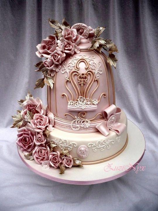 ..vintage romantic cake..