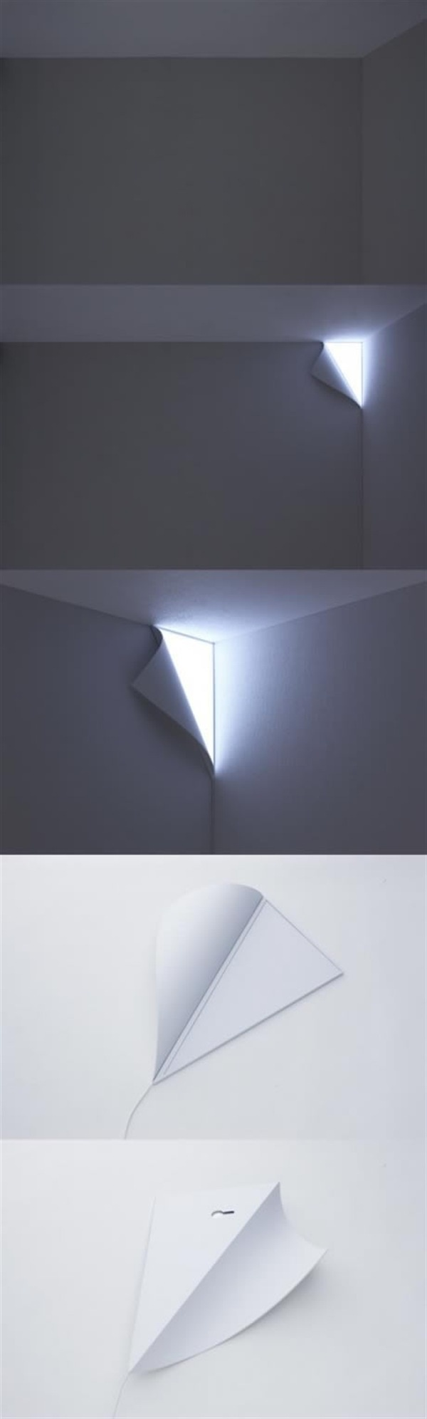 This Peel Wall Lamp Looks As If You Are Pealing The Siding Away Form The  Corner. Although The Power In This Light Source Is In The Shape Of The Light  ...