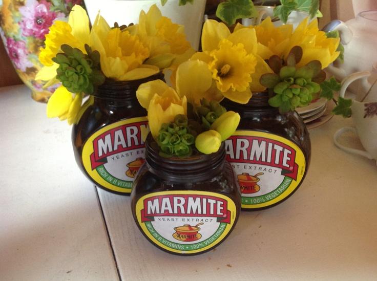 Marmite jars for weddings