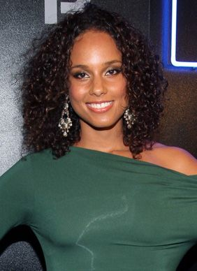 One thing to remember about born-with-'em curls like Alicia Keys': The less you do to them, the better they loo    Read More http://www.glamour.com/beauty/2011/09/14-seriously-cute-hairstyles-for-curly-hair#ixzz1omjlVKb2