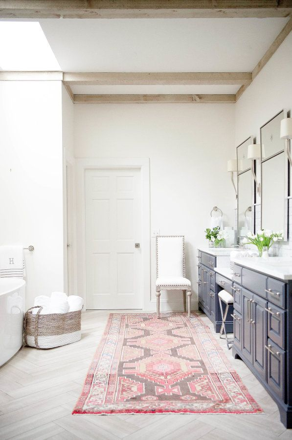 A Spacious Master Bath Redo With Pops Of Color