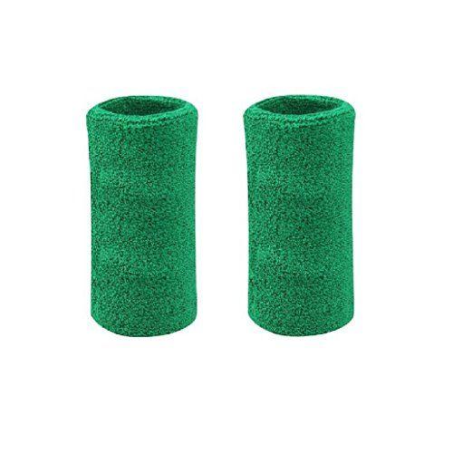 Lorsoul 6 Inch Cotton Sports Basketball Tennis Wrist Sweatband / Wristband Wrist Sweat band/Brace, Price/Pair (Army Green)