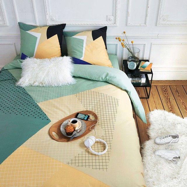 Parure de lit - La Redoute - Lit de 140x190, couette 240x220 - Taies pour oreillers classiques + oreillers ergonomiques 35x60