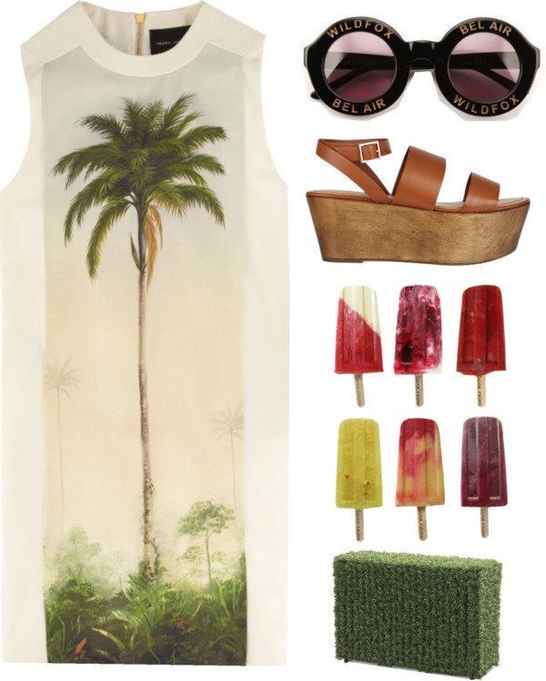 """""""palm trees and 30 degrees"""" by onlybytheocean ❤ liked on Polyvore"""