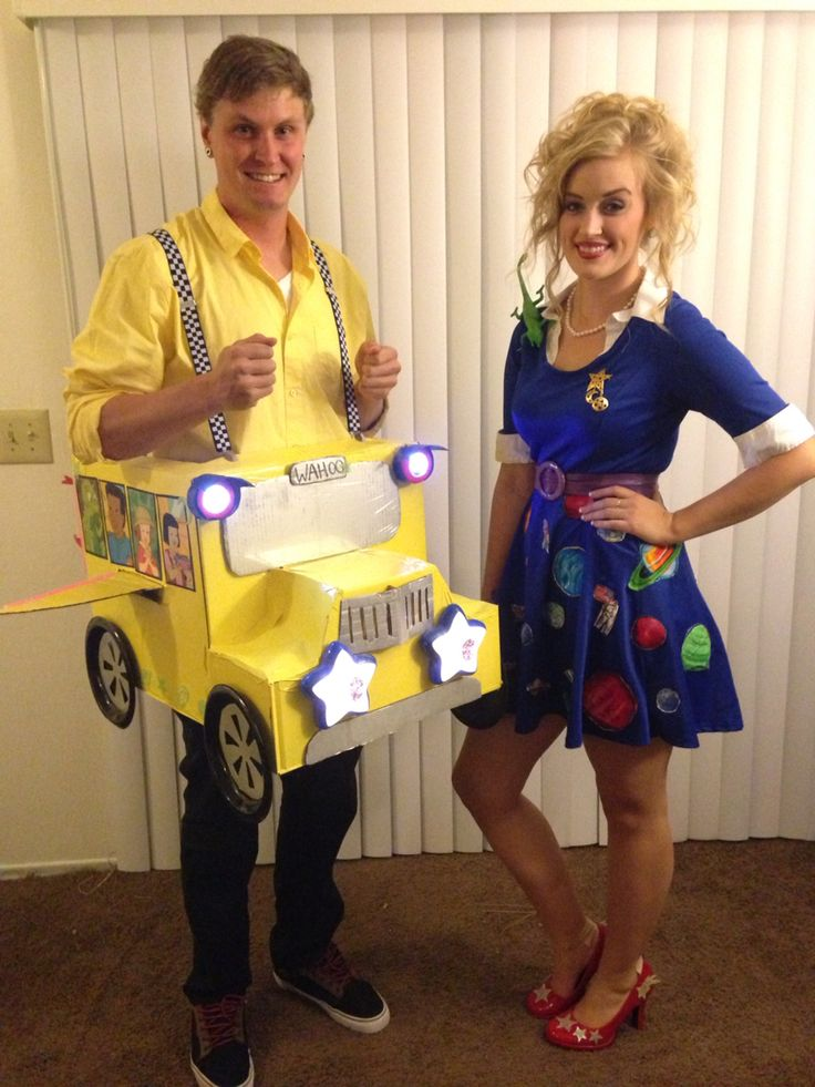 My boyfriend and my Ms. frizzle and The Magic School Bus Costume 2014