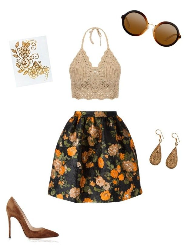 """""""Simple sunset"""" by gardenofroses on Polyvore featuring MSGM, Gianvito Rossi and Urbiana"""