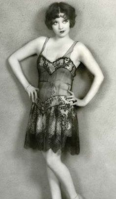 Actress Alice White in lingerie, 1920's.