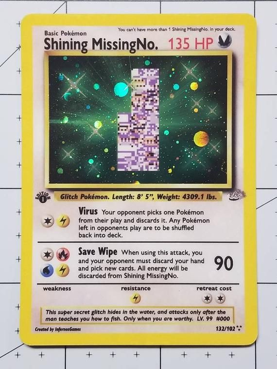 READ the description Pokemon GX EX Mega Orica Mega M missingno Missing No Break