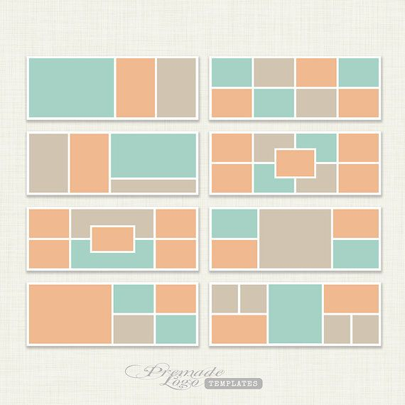 Facebook Timeline Cover, Facebook Timeline Template - INSTANT DOWNLOAD - Set of 8 - P107