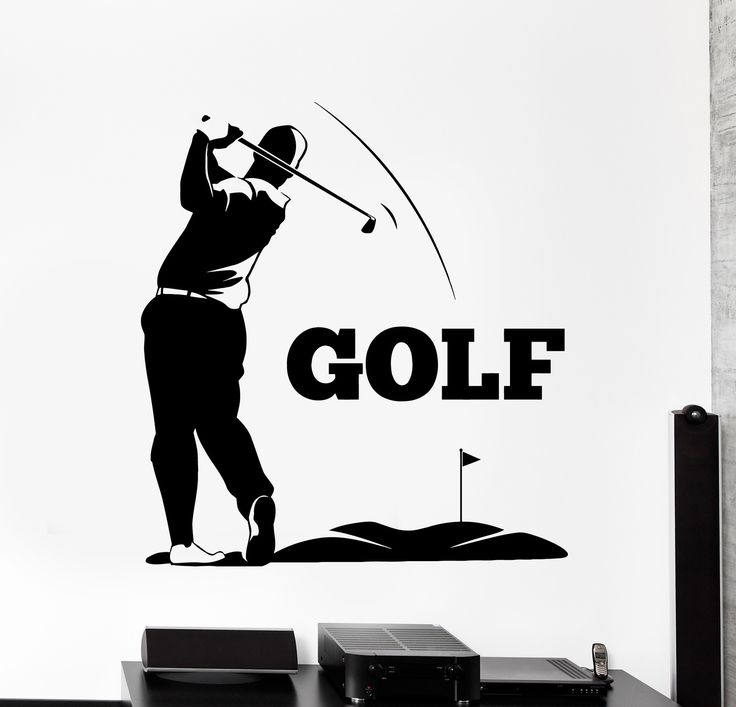 Vinyl Wall Decal Golf Club Player Golf Sport Stickers Mural (ig4477)