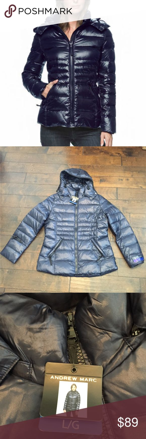 Andrew Marc Winter Jacket Navy *Large Authentic brand new Andrew Marc Winter Jacket in Navy. Size large Andrew Marc Jackets & Coats