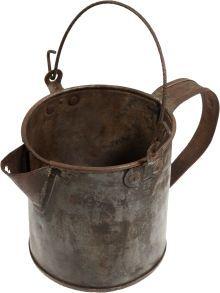 """Civil War Era Tin Mess Pot. 4 ½"""" tall and 4 ½"""" in."""