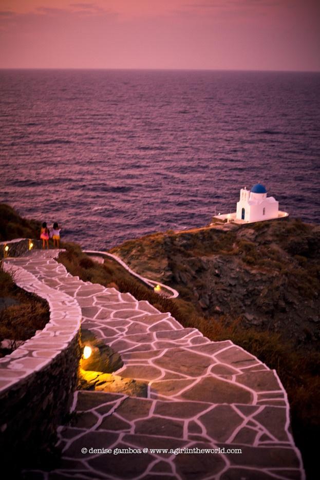 kastro coast in sifnos, greece