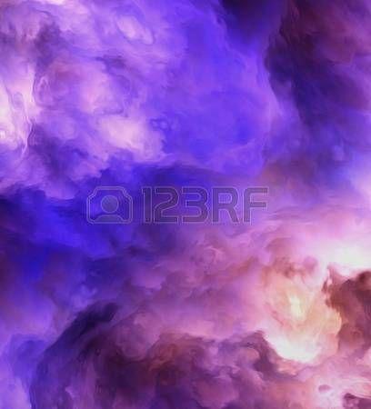 nebula: Подсветка сюрреалистический, штормовые облака затенение от темно-пурпурные и красные в свете синих и желтых символизирующие ряд понятий, таких как создание, рождение звезд, или зловещий водоворот. Фото со стока