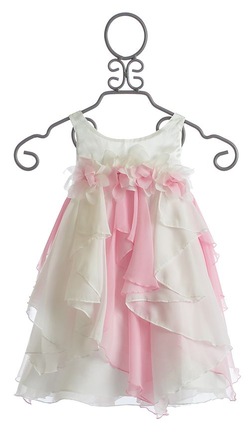 Biscotti Girls Easter Dress Pink and White