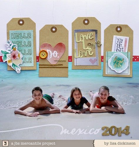 #papercraft #scrapbook #layout. jbs inspiration November kits by Lisa Dickinson
