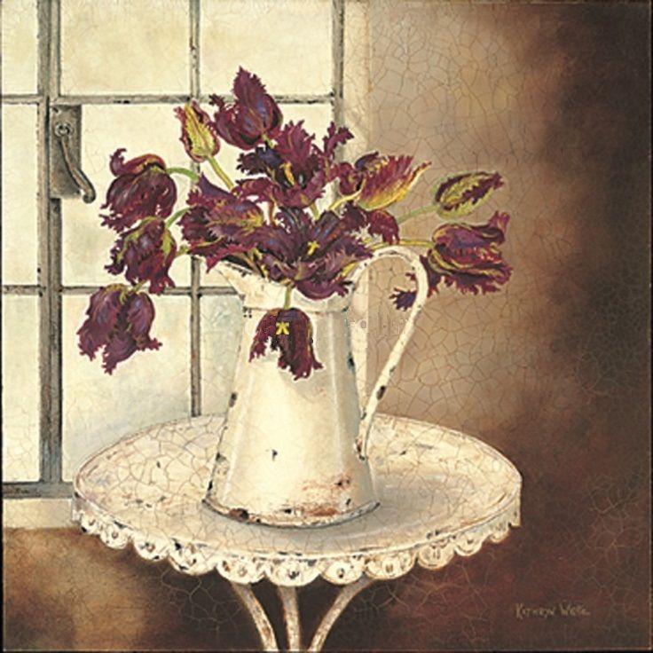 Aubergine Tulips (Kathryn White)