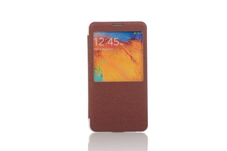 OEM Θήκη Smart Cover Preview (Flip Case) - Καφέ (Galaxy Note 3) - myThiki.gr - Θήκες Κινητών-Αξεσουάρ για Smartphones και Tablets - Χρώμα καφέ