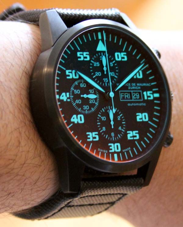 Maurice de Mauriac Chronograph Modern Tactical Vision Watch Review