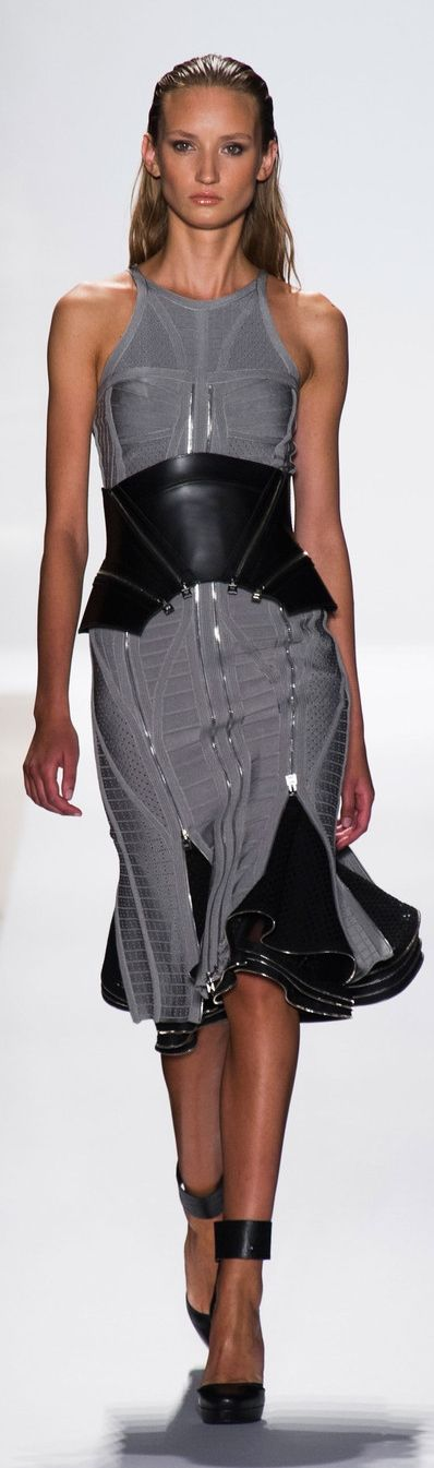 Hervé Léger by Max Azria at NYFW Spring 2014♥✤   Keep Smiling   BeStayBeautiful