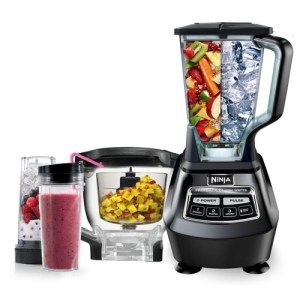 Ninja Mega Kitchen System: The name is pretty self-explanatory but still here it goes. This food processor can literally work its way through everything you put at it. With a 72 ounce blender and a whopping 1500 Watt motor, the processor can handle loads of food items and get them into shape without taking up too much of your time. Its worth mentioning that the processor has an 8-cup capacity.
