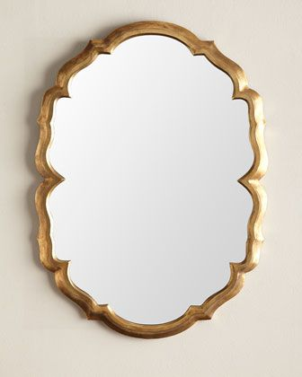 Centerpoint Brass Scalloped Mirror by Jamie Young at Horchow.