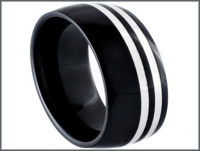 spectacular flat black mens wedding bands more design httparticleallcom - Black Mens Wedding Rings