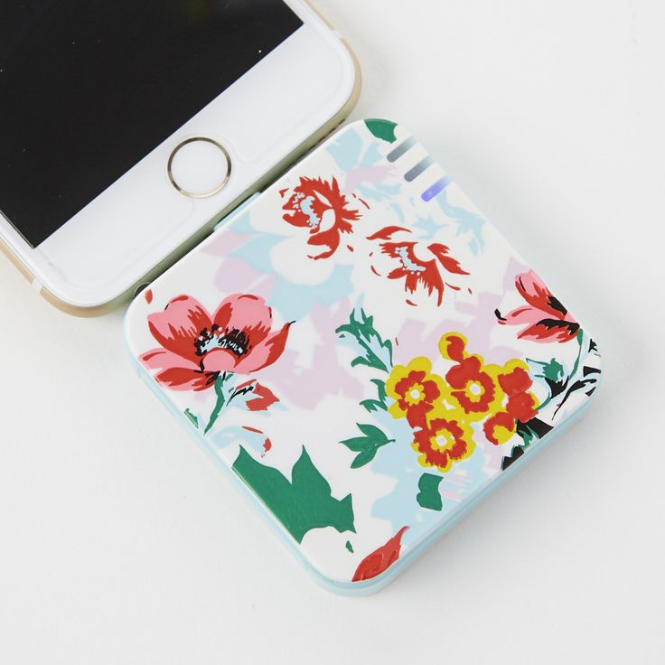 You need this floral power bank to keep your phone at full charge.
